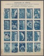 Manrea Viñetas Congreso Filatelico 1947 Sin Dentar - Erinofilia