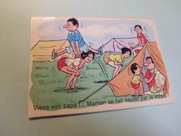 """BELLE ILLUSTRATION HUMORISTIQUE ..""""MAMAN SE FAIT SAUTER PAR LE VOISIN"""" .... - Humour"""