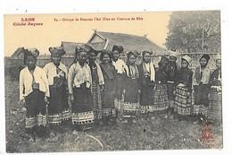 LAOS  -  Groupe De Femmes Thaï-Neua En Costume De Fête - ## TRES  RARE ##   -  L 1 - Laos
