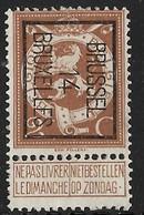 Brussel 1914 Typo Nr. 50B - Vorfrankiert