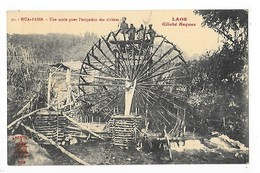 LAOS - HUA-PAHN - Une Noria Pour L'irrigation Du Riz   ## TRES  RARE ##   L 1 - Laos