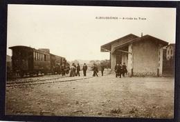 ALBOUSSIERES - Arrivée Du Train - Tirage Photo D'une Carte Postale Ancienne - - France
