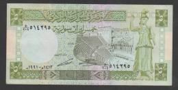 SYRIA ,SYRIE, 5 Syrian Pounds, 1991 ,No:100e,(1), VF. - Syrie