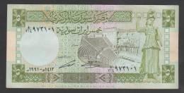SYRIA ,SYRIE, 5 Syrian Pounds, 1991 ,No:100e,(2), VF. - Syrie