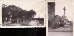 Cotes D Armor, Le Vieux Marche, La Chapelle Aux 7 Saints, Partie De Boules,1943, Lot De 4 Photos (bon Etat) Dim: 11 X 7. - Lugares