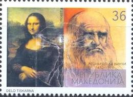 MK 2002-252 550A°LEONARDO DA VINCI, MACEDONIA, 1 X 1v, MNH - Macédoine