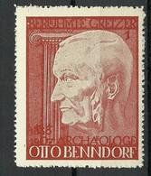 Vignette Berühmte Gretzer Archäologe Otto Benndorf  MNH - Archäologie