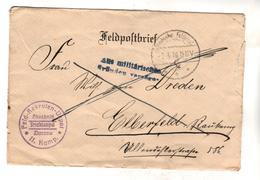 2499,  Feldpost, WK I, Zloczow, Solotschiw, Ukraina Nach Elberfeld, Wuppertal - Guerra 1914-18