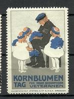 Germany Ca 1910 Kornblumen Tag Bedürftige Veteranen Wohlfahrt Charity Vignette Werbemarke * - Vignetten (Erinnophilie)
