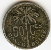 Congo 50 Centimes 1925 Français KM 22 - Congo (Belgian) & Ruanda-Urundi