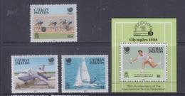 Cayman Islands 1988 Seoul Olympics, Cycling, Tennis, Plane Stamps + S/S MNH - Iles Caïmans