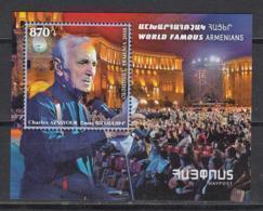 Armenia Armenien MNH** 2018 Charles Aznavour  Mi 1076 Bl.93 - Arménie