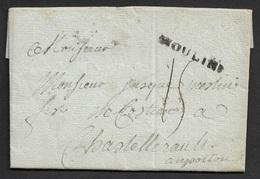 1786 - LAC - MOULINS 32mm X 4mm ( ALLIER ) - Marcophilie (Lettres)