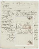 Cachet Ministère De L'Intérieur Paris An 11- 22.11.1802 Jugement Tribunal De Belfort - 1801-1848: Precursors XIX