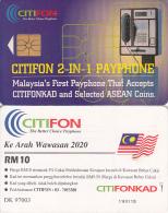 MALAYSIA(chip) - Citifon Cardphone, CITIFON Telecard RM10, Chip GEM1.1, Used - Telephones
