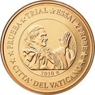 Vatican, Médaille, 5 C, Essai-Trial Benoit XVI, 2010, FDC, Cuivre - Jetons & Médailles