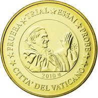 Vatican, Médaille, 10 C, Essai-Trial Benoit XVI, 2010, FDC, Copper-Nickel Gilt - Jetons & Médailles