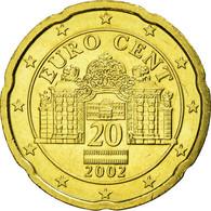 Autriche, 20 Euro Cent, 2002, SUP, Laiton, KM:3086 - Autriche