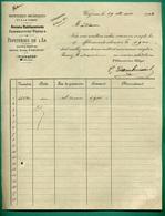 62 Wizernes Papeteries De L' Aa Anciens Établissements Dambricourt Frères Papeteries Mécaniques 19 Mars 1908 - Imprimerie & Papeterie