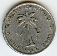Congo Ruanda 1 Franc 1959 KM 4 - 1951-1960: Baudouin I