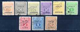 1943 OCC. ANGLO-AMERICANA SICILIA SET USATO 1/9 - Britisch-am. Bes.: Sizilien