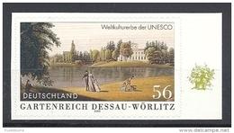 Deutschland / Germany / Allemagne 2002 2277 ** Selbstklebend SELFADHESIVE Gartenreich Dessau-Wörlitz (farbige Rückseite) - Ongebruikt