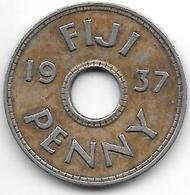 *fiji 1 Penny 1937  Km 7  Xf !!! - Figi