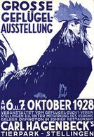 @@@ MAGNET - Grosse Geflügel-Ausstellung Carl Hagenbeck's Tierpark, Coq - Reklame