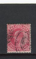 INDE ANGLAISE - Y&T N° 59° - Edouard VII - Perfin - Perforé - India (...-1947)