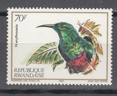 Rwandaise 1983,1V,birds,vogels,vögel,oiseaux,pajaros,uccelli,aves ,MNH/Postfris(A3665) - Oiseaux