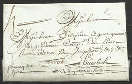 """(D150) Lettre De ROESBRUGGE (cachet YPRES) Pour Humbeke De 1780 - """"franco Tot Ypres"""" Manuscrit - 1714-1794 (Pays-Bas Autrichiens)"""