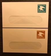USA Birds Postal Stationery PSE Domestic Mail Eagles X 2 Mint - Birds