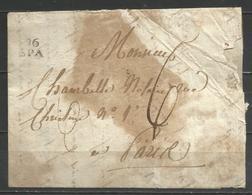(D151) Lettre De SPA (96 SPA En Noir) Vers Paris - 1794-1814 (Période Française)