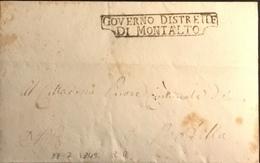 1849 MONTALTO R.R. PER ROTELLA - Italy