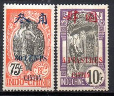 Col11  Canton N° 79 & 83 Neuf X MH : 21,00 Euros - Canton (1901-1922)