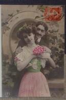 Petit Calendrier De Poche 1989 Reproduction Carte Postale Ancienne Couple - Coiffeur Ceton Orne - Calendriers
