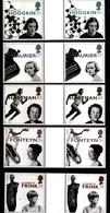 GREAT BRITAIN - 1996  WOMEN/EUROPA  GUTTER PAIRS  UNFOLDED  SET   MINT NH - 1952-.... (Elisabetta II)
