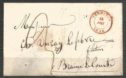 (D154) Lettre De TERMONDE Du 24/1/1848 Vers Braine-le-Comte - 1830-1849 (Belgique Indépendante)