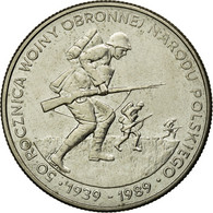 Monnaie, Pologne, 50th Anniversary - Beginning Of WWII, 500 Zlotych, 1989 - Pologne