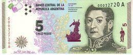 Argentina P.359 3  5  Pesos 2015   Unc - Argentine