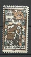 Germany Ca 1900 Bochum Vaterländischer Frauenverein Kindergarten Spendemarke * - Cinderellas