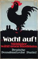 @@@ MAGNET - Wacht Auf! Deutsche Demokratische Partei!, Coq - Publicitaires