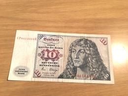 Un Billet De   10 Deutsche Mark Allemagne 1980 - [ 7] 1949-… : RFA - Rép. Féd. D'Allemagne
