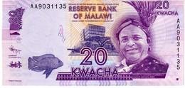 Malawi P.57a 20 Kwacha 2012  Unc - Malawi
