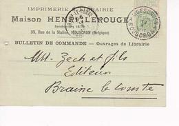 Mouscron Carte Pub Maison Lerouge 1911 - Mouscron - Moeskroen