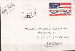 USA 1978 Cover With 31c Airmail Stamp Cancelled Silver Spring, MO 18 SEP 1978 - United States