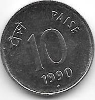 *india  10 Paisa 1990 B Km 40.1  Unc !! - India
