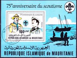 Mauretanien - 75 Jahre Pfadfinderbewegung (Mi.Nr.: Bl. 33) 1982 - Gest Used Obl - Mauritanie (1960-...)