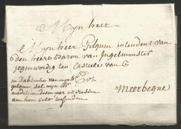 (D157) Lettre De WAREGEM Vers MEERBEQUE (Meerbeke) Du 18/5/1783 - Pas De Marque Postale - 1714-1794 (Pays-Bas Autrichiens)