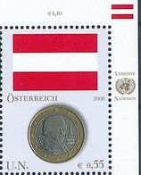 UNO-Wien 2006: Mi 480 ÖSTERREICH Mozart (out Of Sheet)** MNH - START UNTER Postpreis SOUS La Faciale BELOW Face (€ 0.55) - Music